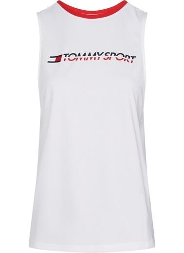Tommy Hilfiger Kadın Open Back Tape Tank Top Tişört S10S100271 Beyaz